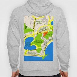 RIO map design - Brasil Hoody