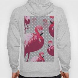 Watercolor Flamingo Pattern 6 Hoody