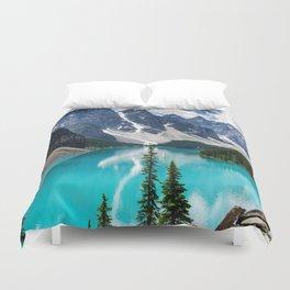 Lake Moraine Banff Duvet Cover
