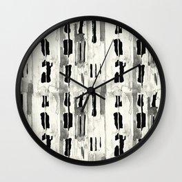 Minimal Black and Cream Abstract Design Wall Clock