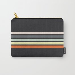 Colorful Stripes Black VIII Carry-All Pouch