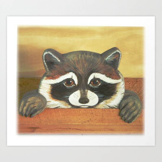 "Raccoon ""Here's Looking at YOU"" Art Print"