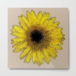 Flor amarela 2 Metal Print