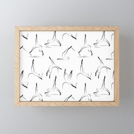 pilates pattern1 Framed Mini Art Print