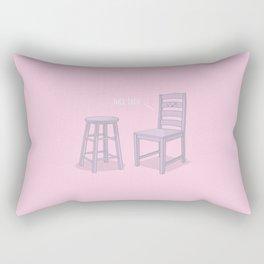Nice Legs #kawaii #pink Rectangular Pillow