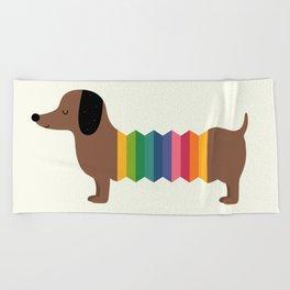 Rainbow Dooooog Beach Towel
