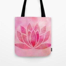Zen Watercolor Lotus Flower Yoga Symbol Tote Bag