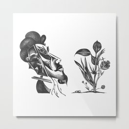 Mysterious Human Plant's Metal Print
