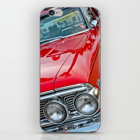 Red Ford Custom 500 Galaxie Police Car iPhone & iPod Skin