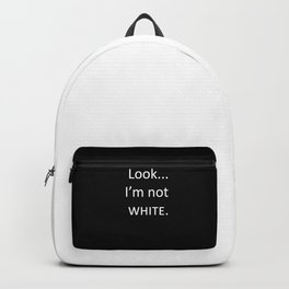 white: black Backpack