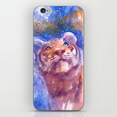 Waiting for the stars (tiger, big cat, cat, kitty, kitten, gato, chat) iPhone & iPod Skin