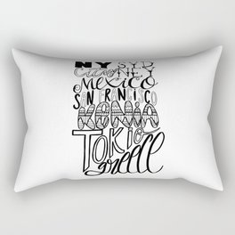 Next destination Rectangular Pillow
