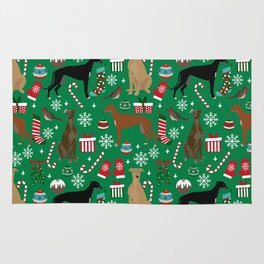 Christmas Greyhound pattern gifts for greyhound rescue dogs must have festive holiday dogs Rug