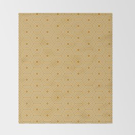 Honeycomb Geometric Pattern Throw Blanket