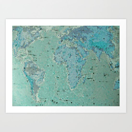 Let's Travel The World Art Print