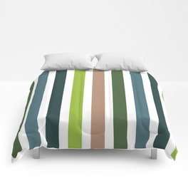 Stripes Blue Green Palette Comforters