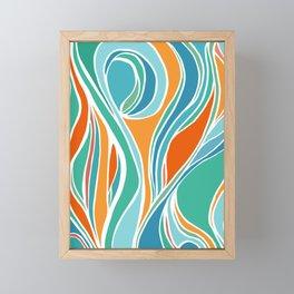 Campfire Abstract Framed Mini Art Print