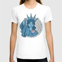 T-shirts featuring Nasty Lady Liberty by Karen Hallion Illustrations