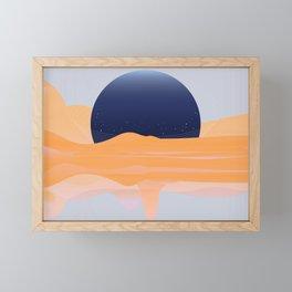 FULL -OF-FLOYD MOON / ORANGE Framed Mini Art Print