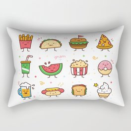 Food Doodle Rectangular Pillow