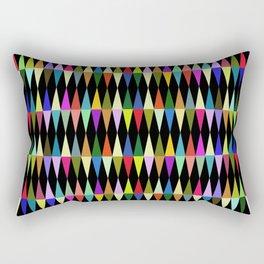Harlequin loves multicolored rhombus Rectangular Pillow