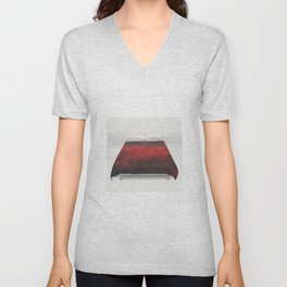 Cool Red Duvet Cover Eccentric Quirky Fun Unisex V-Neck