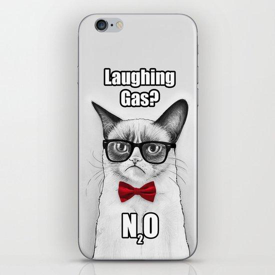 Grumpy Chemistry Cat Geek Science Meme Whimsical Animals in Glasses iPhone & iPod Skin