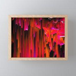 En Rouge - Abstract Glitch Pixel Art Framed Mini Art Print