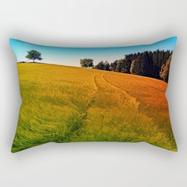 Waving fields of spring Rectangular Pillow