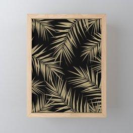 Palm Leaves Cali Finesse #1 #gold #tropical #decor #art #society6 Framed Mini Art Print