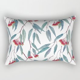 Eucalyptus leaves and flowers on light Rectangular Pillow
