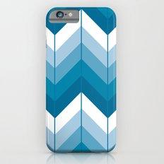 Herringbone - Blue Slim Case iPhone 6s