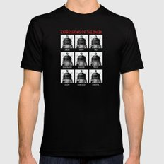 Expressions Of The Dalek X-LARGE Black Mens Fitted Tee
