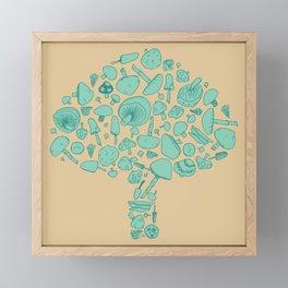 Fungi V2 Vintage Mushroom Pattern Framed Mini Art Print