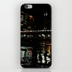 Chicago El and River at Night iPhone & iPod Skin