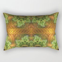 balls and stunning patterns in green and gold / orange Rectangular Pillow