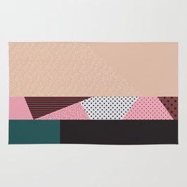 Mixture Abstract Pink Red Black Green Rug