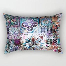 Celestial Tile Pattern Rectangular Pillow