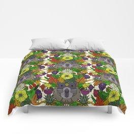 groundhog garden Comforters