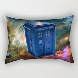 The Police Box Tardis time travel device used Doctor Who Rectangular Pillow