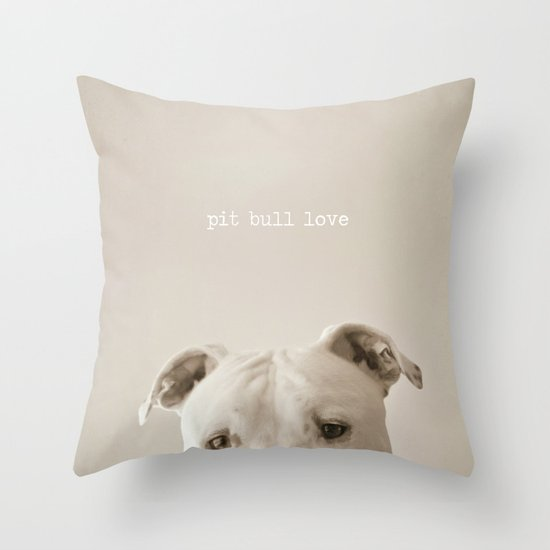 Pit bull love  Throw Pillow