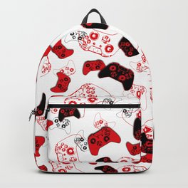Video Game White and Red Backpack