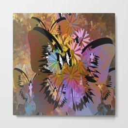 abstract digital art butterflay Metal Print