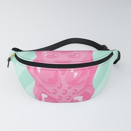 Pink Gummi Bear on Mint Background Fanny Pack