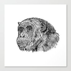 Chimp with a Pearl Earring Canvas Print