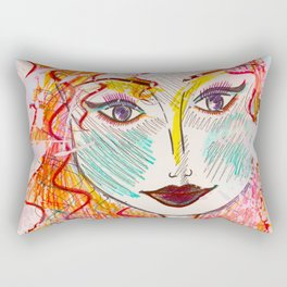 I Will Think of A Mermaid Lagoon, Underneath Magic Moon ~Wendy Rectangular Pillow