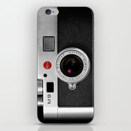classic retro Black silver Leather vintage camera iPhone 4 4s 5 5c, ipod, ipad case iPhone Skin