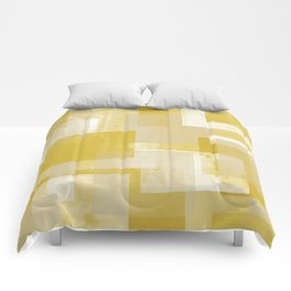Modern Abstract No. 19   Citron Comforters