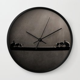 Ant Showdown Wall Clock