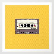 Polka dot cassette tape Art Print